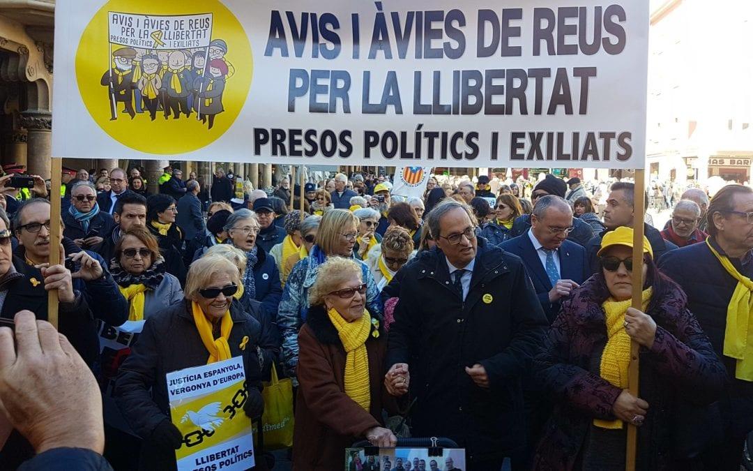 🔊 Discurs de Quim Torra en homenatge als Avis i àvies de Reus per la Llibertat