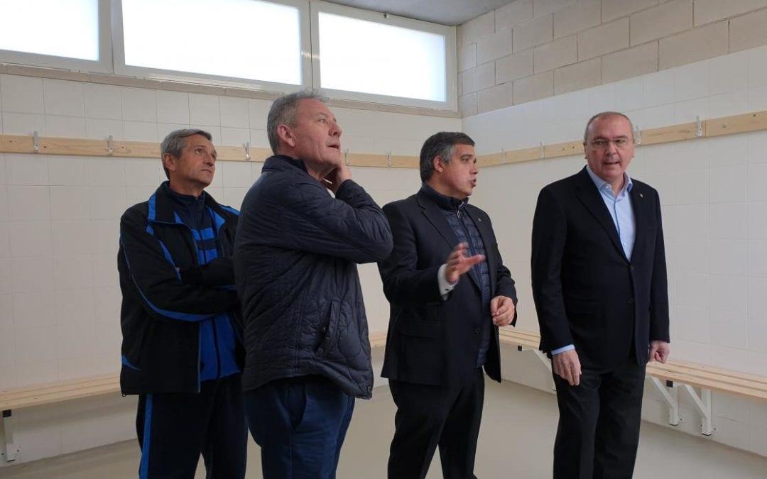 🔊 El camp de futbol de La Pastoreta estrena vestidors
