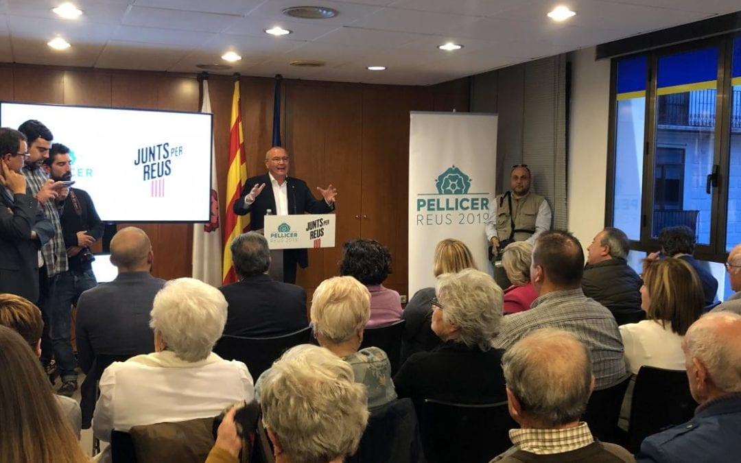 Carles Pellicer presenta la llista completa de Junts per Reus