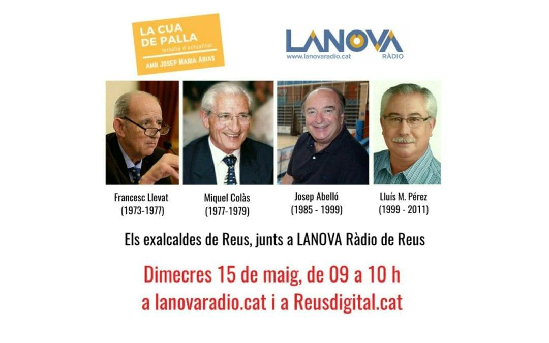 Els quatre exalcaldes de Reus, junts aquest dimecres a LANOVA Ràdio de Reus