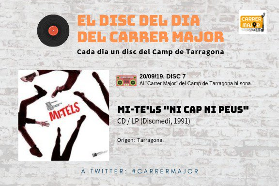 """🔊 El disc del dia del Carrer Major. 07: Mi-te'ls """"Ni cap ni peus"""" (1991)"""