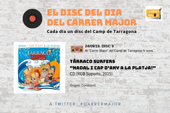 "🔊 El disc del dia del Carrer Major. 09: Tàrraco Surfers ""Nadal i cap d'any a la platja!"" (2015)"