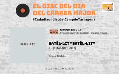 """🔊 El disc del dia del Carrer Major. 13: Satèl·lit """"Satèl·lit"""" (2012)"""