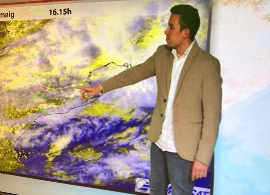 """🔊 Adrià Piñol: """"M'agrada divulgar la meteorologia de les nostres terres"""""""