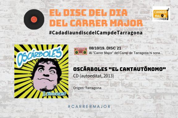 """🔊 El disc del dia del Carrer Major. 21: Oscárboles """"El cantautónomo"""" (2013)"""