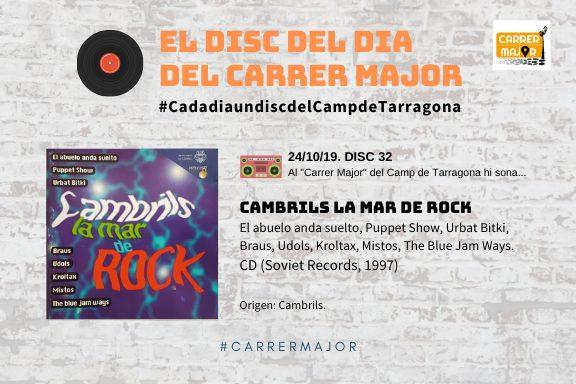 """🔊 El disc del dia del Carrer Major. 32: """"Cambrils la mar de rock"""" (1997)"""