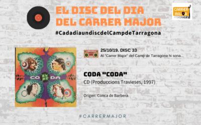 """🔊 El disc del dia del Carrer Major. 33: Coda """"Coda"""" (1997)"""