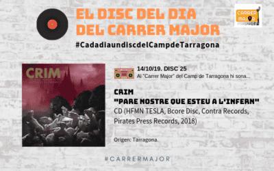 """🔊 El disc del dia del Carrer Major. 25: Crim """"Pare nostre que esteu a l'infern"""" (2018)"""