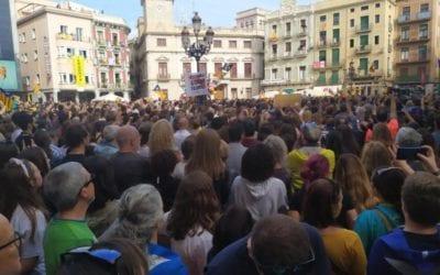 Diferents concentracions a Reus amb motiu de la vaga general contra la sentència del procés