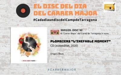 """🔊 El disc del dia del Carrer Major. 92: Plombiers """"L'inefable moment"""" (2020)"""