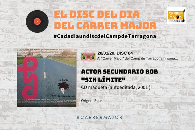 "🔊 El disc del dia del Carrer Major. 84: Actor Secundario Bob ""Sin límites"" (2001)"