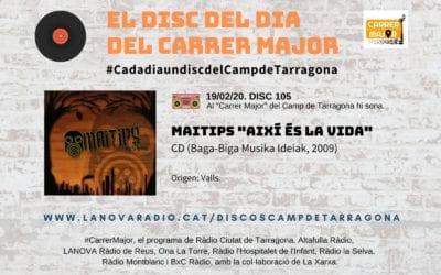 """🔊 El disc del dia del Carrer Major. 105: Maitips """"Així és la vida"""" (2009)"""
