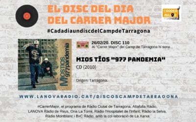 """? El disc del dia del Carrer Major. 110: Mios tíos """"977 Pandemia"""" (2010)"""