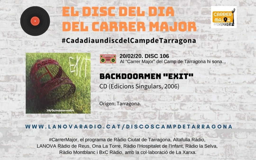 "🔊 El disc del dia del Carrer Major. 106: Backdoormen ""Exit"" (2006)"