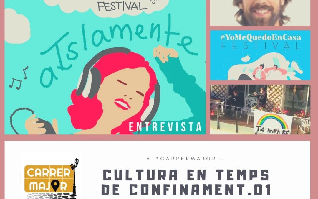 """🔊 Cultura en temps de confinament: """"#AislamenteFestival, Marc Cortadelles i altres manifestacions musicals"""""""