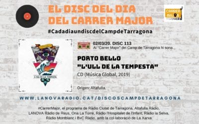 """? El disc del dia del Carrer Major. 113: Porto Bello """"L'ull de la tempesta"""" (2019)"""