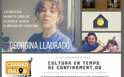 🔊 Cultura en temps de confinament. 06: nou clip Paco Enlaluna, entrevista a Georgina Llauradó, masterclass de fotografia i cinema, #ConfinamentFest i Pepet i marieta