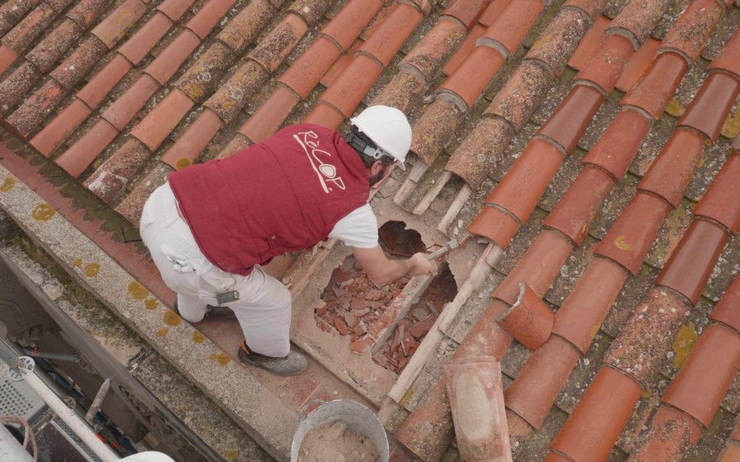 📽🔊 La Casa Navàs de Reus inicia les obres del capcer a la teulada de l'edifici