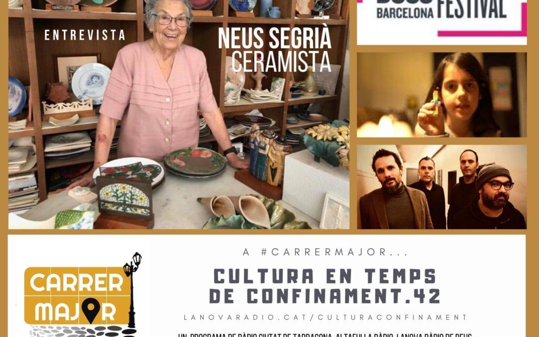 🔊 Cultura en temps de confinament. 42: conversem amb la ceramista reusenca Neus Segrià i escoltem una cançó de Glaucs que acompanya una iniciativa solidària