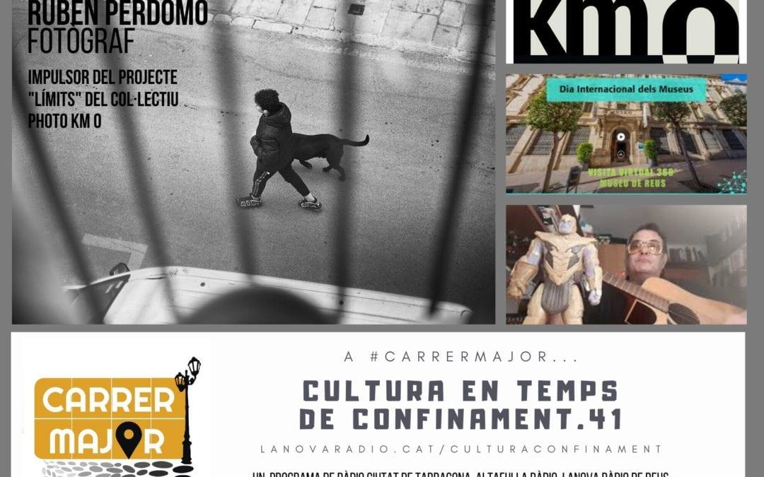 🔊 Cultura en temps de confinament. 41: el projecte 'Límits' amb el fotògraf tarragoní Rubén Perdomo i escoltem cançó d'Ariel Santamaria