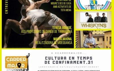 🔊 Cultura en temps de confinament. 31: dansa amb Teresa Aguadé i Marta Arjona, agenda i cançó sobre Oriol Mitjà
