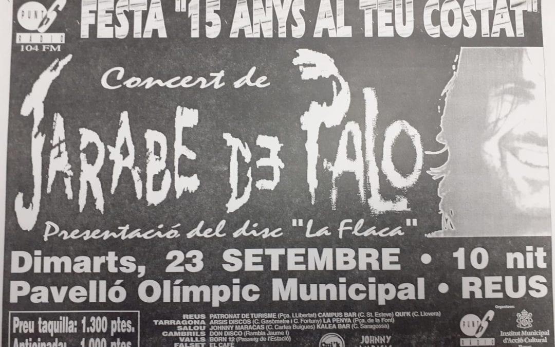 El concert de Jarabe de Palo al Pavelló Olímpic de Reus de la mà de Punt 6 Ràdio, predecessora de LANOVA Ràdio
