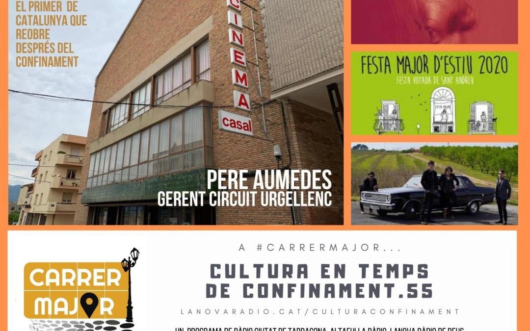 🔊 Cultura en temps de confinament. 55: entrevista a Pere Aumedes del cinema de Montblanc i cançó del primer disc dels Stone Vibe