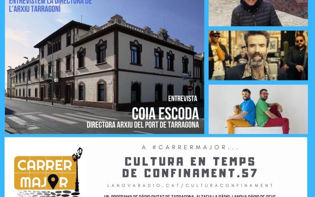 🔊 Cultura en temps de confinament. 57: entrevista a Coia Escoda de l'Arxiu del Port de Tarragona i primer senzill dels reusencs Koeman