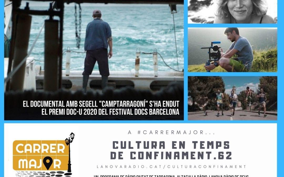 """🔊 Cultura en temps de confinament. 62: entrevista a Mònica Cambra i Albert Grinyó, del documental """"Mareas ocultas"""" guardonat al DocsBarcelona, i cançó dels Fauna de Falset"""