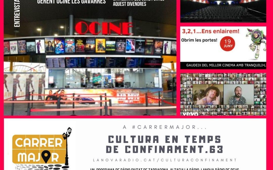 🔊 Cultura en temps de confinament. 63: entrevistem el gerent d'OCINE Les Gavarres, Josep Eduard Príncep, i cançó confinada de Macaco