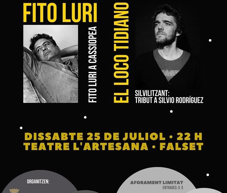Fito Luri i El Loco Tidiano, en concert a Falset de la mà de LANOVA Ràdio i Reusdigital.cat