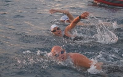 El nedador Jordi Cervera assoleix el repte solidari 'Connecta't per l'Alzheimer'